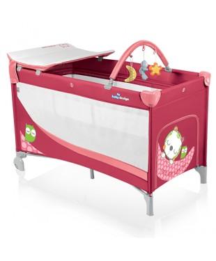 Купить Манеж-кроватку Baby Design Dream красного цвета
