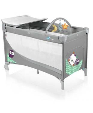 Манеж-кроватка Baby Design Dream серого цвета