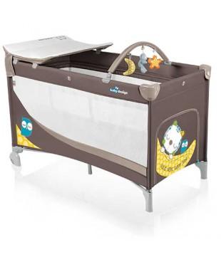 Манеж-кроватка Baby Design Dream коричневого цвета