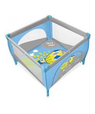 Манеж-кроватка Baby Design PLAY 01 синего цвета