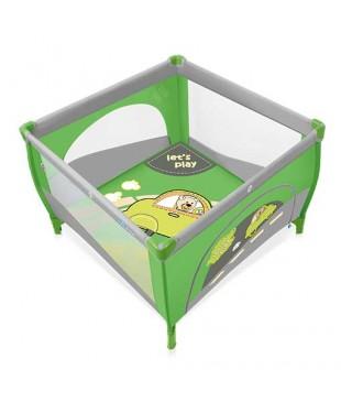 Манеж-кроватка Baby Design PLAY 04 зеленого цвета