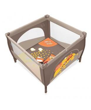 Манеж-кроватка Baby Design PLAY 09 коричневого  цвета