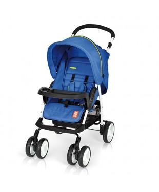 коляска прогулочная с большим капюшоном Bomiko model L цвет 03 синий