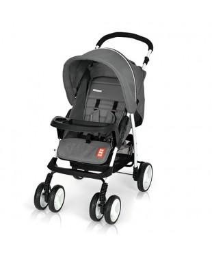 коляска прогулочная с большим капюшоном Bomiko model L цвет 07 графит