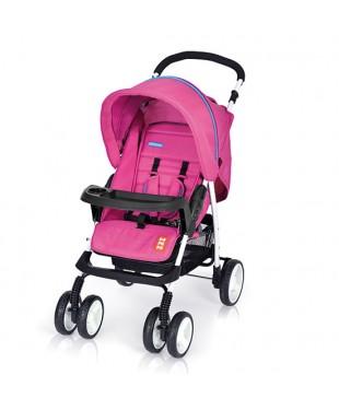 коляска прогулочная с большим капюшоном Bomiko model L цвет 08 розовый