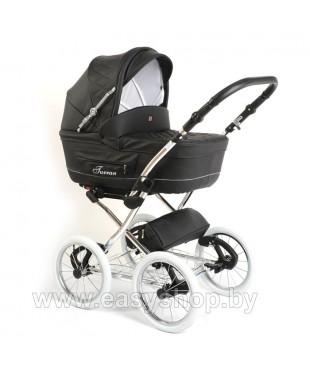 Купить детскую коляску Turan Silver ECO из кожи черного цвета
