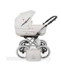 Детская коляска Tutek Turan Silver ECO B White