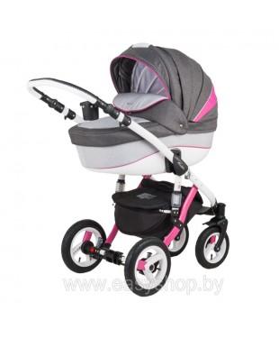 Купить коляску Adamex Barletta Барлета Rainbow RB Red-pink с доставкой по России