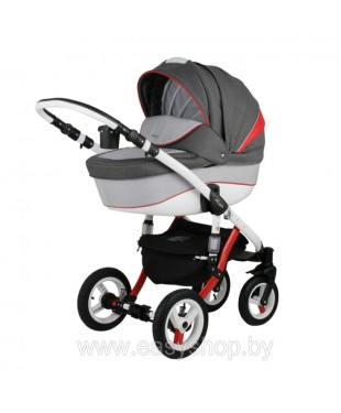 Купить коляску Adamex Barletta Барлета RB Rainbow Red-Grey