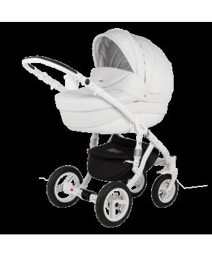 Купить коляску Barletta Барлета ECO Deluxe 10S Гарантия, доставка. Белоснежная коляска из ЭКО-кожа