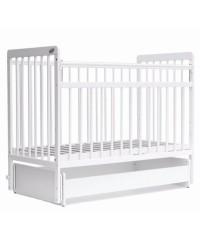 кроватка детская BAMBINI 05 (маятник) Euro Style Белый