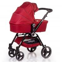 Детская коляска Geoby Геоби Cube Красный Лен
