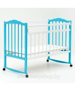 Кроватка BAMBINI 01 Бело- голубой