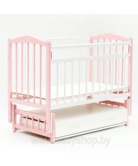 Кроватка Bambini 02 Розовая-белая
