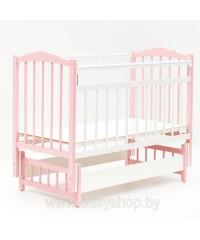 КРОВАТКА BAMBINI 03 Бело- розовая