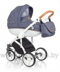 Детская коляска Bass Soft Бас Софт Denim: Blue / Cognac Bass Soft