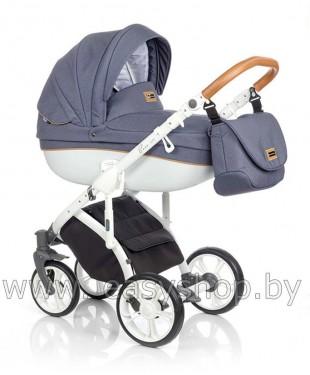 Детская коляска в Слуцке Bass Soft Бас Софт купить Denim: Blue / Cognac