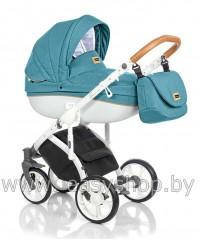 Детская коляска Bass Soft Бас Софт Denim LE: Ocean / Cognac