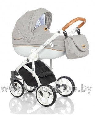 Детская коляска Bass Soft Бас Софт купить Минске на Ждановичах Мир моды-4 Denim: Grey / White