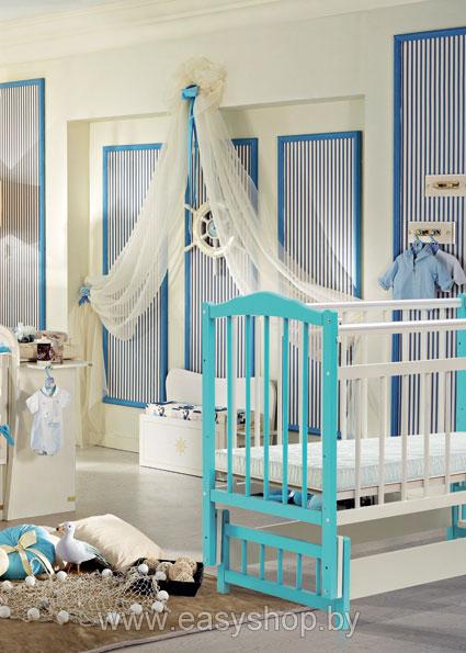 Детская кроватка на маятниковой системе Bambini