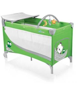 Манеж-кроватка Baby Design Dream зеленого цвета