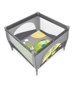 Манеж-кроватка Baby Design PLAY 07 серого цвета