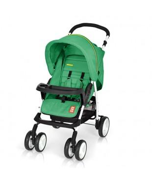 коляска прогулочная с большим капюшоном Bomiko model L цвет 04 зеленый