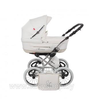 Купить детскую коляску Turan Silver ECO из Кожи белого цвета