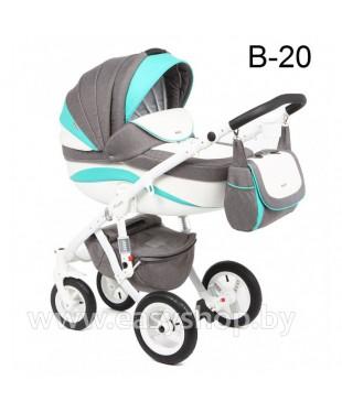 Детская коляска Adamex Barletta  Адамекс Барлета NEW B-20 (vicco, вико) 2в1 / 3в1