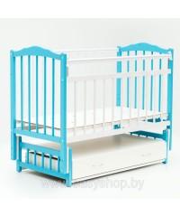 Кроватка Bambini 02 Бело-голубая