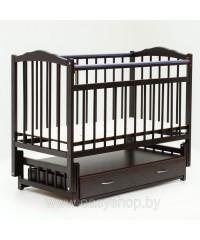 Кроватка Bambini 02 Темный орех