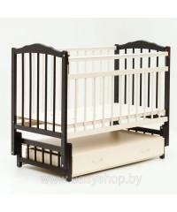 Кроватка Bambini 02 Сл. кость- тем. орех