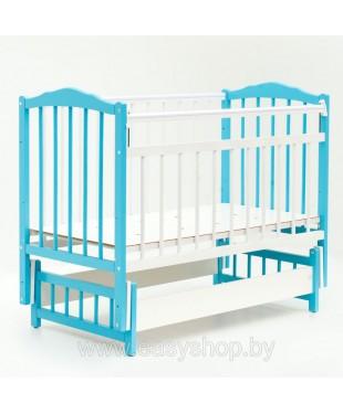 КРОВАТКА ДЕТСКАЯ BAMBINI 03 Бело- голубая