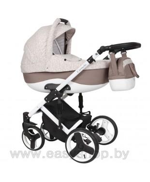Детская коляска Quali Carmelo Кволи Кармело 15 4в1 (люлька, прогулочный блок, автолюлька, конверт-переноска)