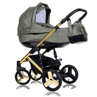 Детская коляска Quali Carmelo Кволи Кармело  164 alkantara Gold