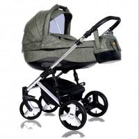 Детская коляска Quali Carmelo Кволи Кармело  164S alkantara Silver