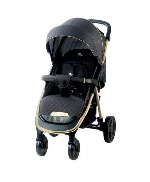 ✅ прогулочная коляска Quatro Capri (Капри) Grey dark gold на золотой раме