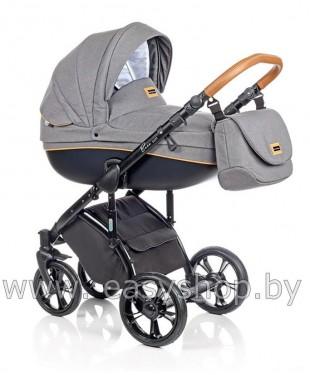 Детская коляска в Москве Bass Soft Бас Софт купить Denim: Black / Cognac